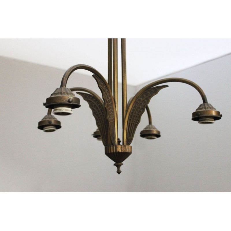 LAMPADARIO IN BRONZO - Marco Polo - Antiques online