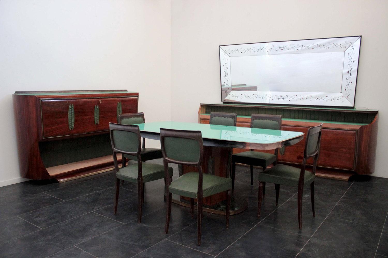 Credenza Camera Da Pranzo : Sala vittorio dassi composta da credenza specchiera mobile bar