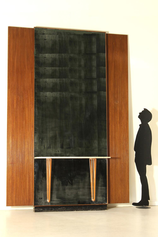 Consolle con imponente specchio anni 39 40 39 50 stile borsani for Como con specchio anni 40