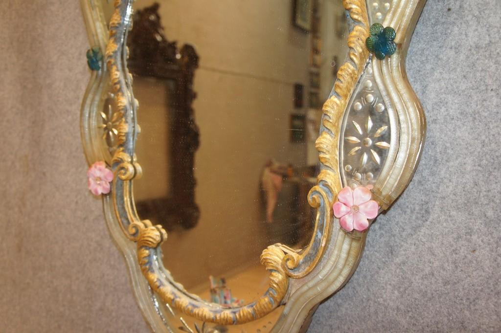 Specchiere in vetro di murano marco polo antiques online - Specchiere on line ...