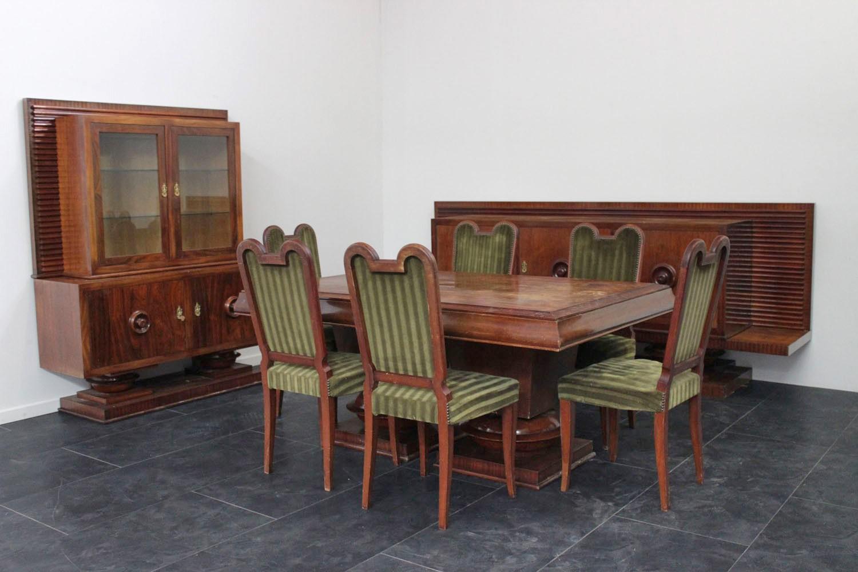 Tavolo Pranzo Art Deco sala da pranzo art deco del designer jacques klein - marco