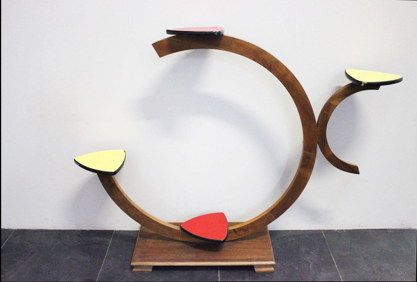 Portavasi in legno anni 39 60 marco polo antiques online for Portavasi in legno