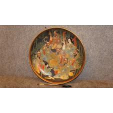 Oriental style ceramic plate