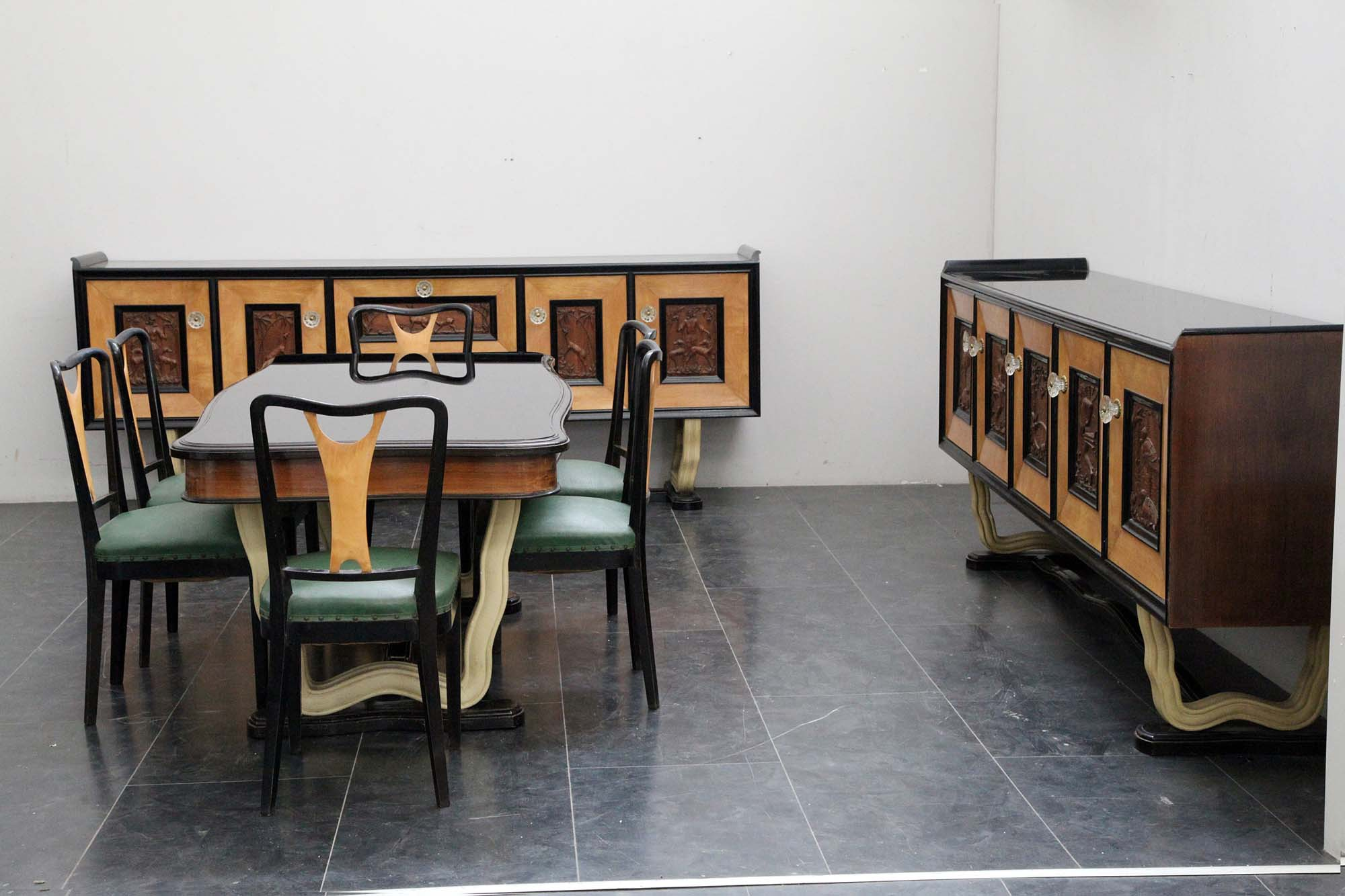 Tavolo Pranzo Art Deco dining room - marco polo - antiques online -