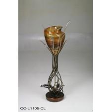 CONSOLE LAMP, AMBERTO, 30X37X85H