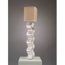 CONSOLE LAMP,SWINGING SILVER, 103H