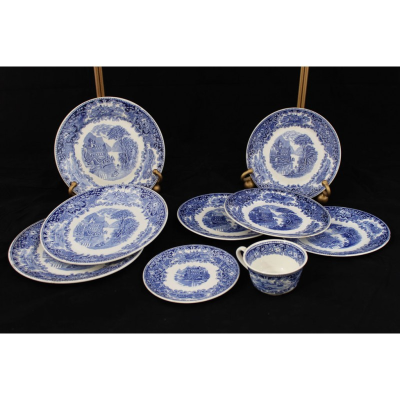 Set piatti decorati marco polo antiques online for Piatti decorati