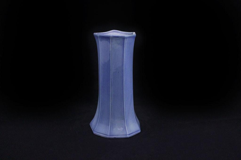 Vaso blu decorato marco polo antiques online for Vaso blu
