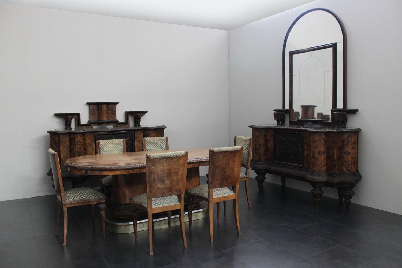 Sala da pranzo con elefanti marco polo antiques online for Sala pranzo con caminetto