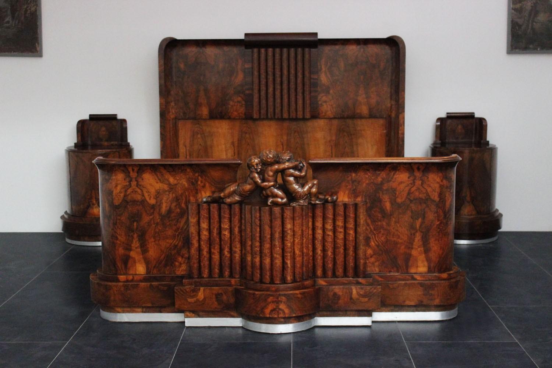 Camere Da Letto Art Deco : Letto art deco con putti marco polo antiques online