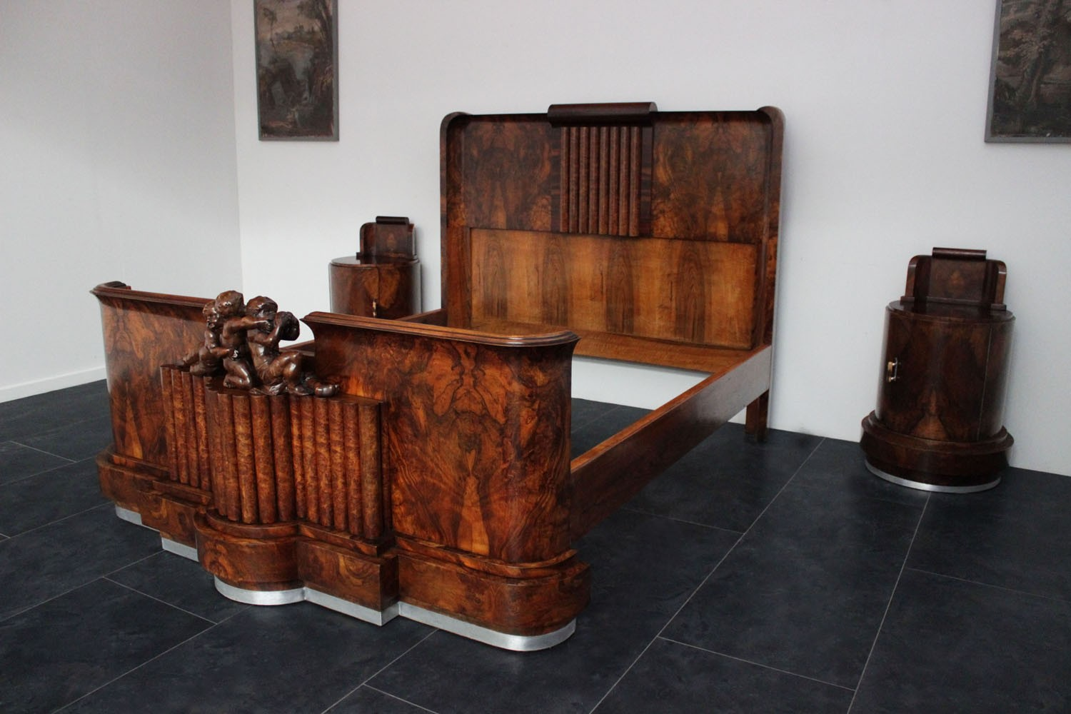 Camere Da Letto Art Deco : Letto art deco con putti marco polo antiques online