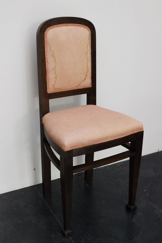 Sedie art deco 39 con pouff marco polo antiques online for Sedie design 900