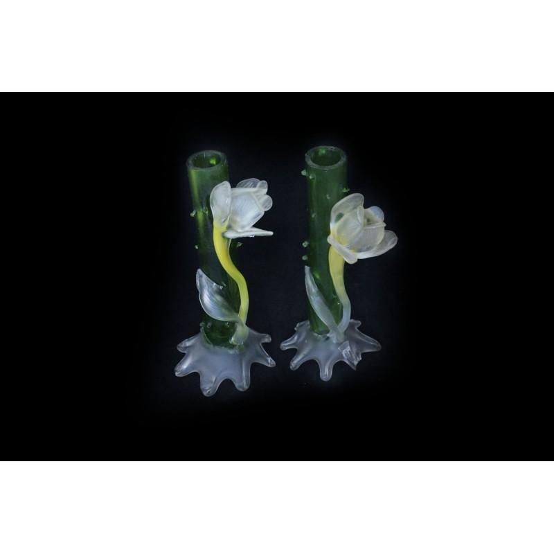 Portafiori in vetro decorato marco polo antiques online - Portafiori in vetro ...